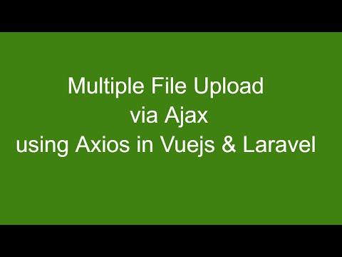 Multiple File uploads Vuejs Laravel - YouTube