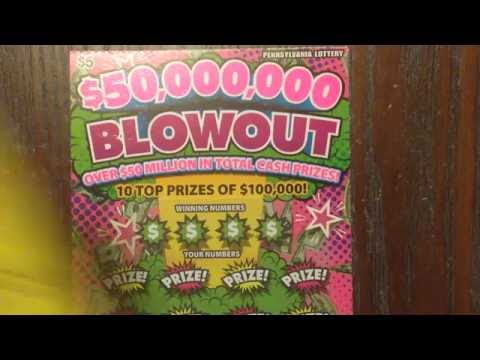 PA ScratchKing PA Pt 3  $5 $50,000,000 Blowout Pennsylvania Lottery Scratch Off Tickets