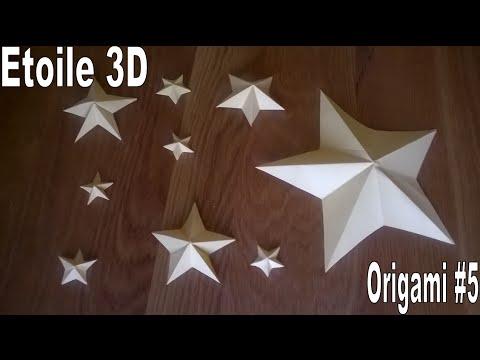 Etoile 3d Origami 5 Youtube
