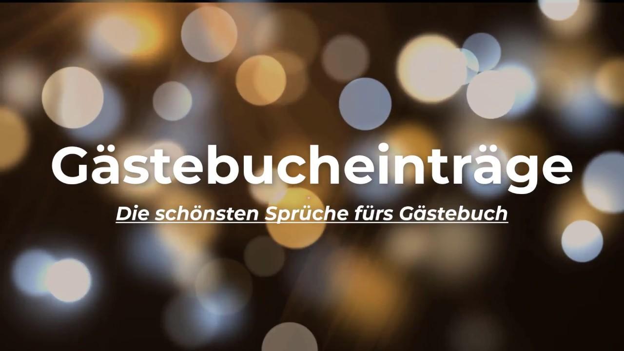 Gästebucheinträge Kurze Texte Und Sprüche Fürs Gästebuch