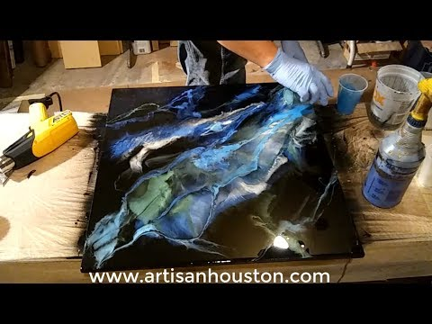 Mica Pigment Resin Art by David Stein - Houston TX