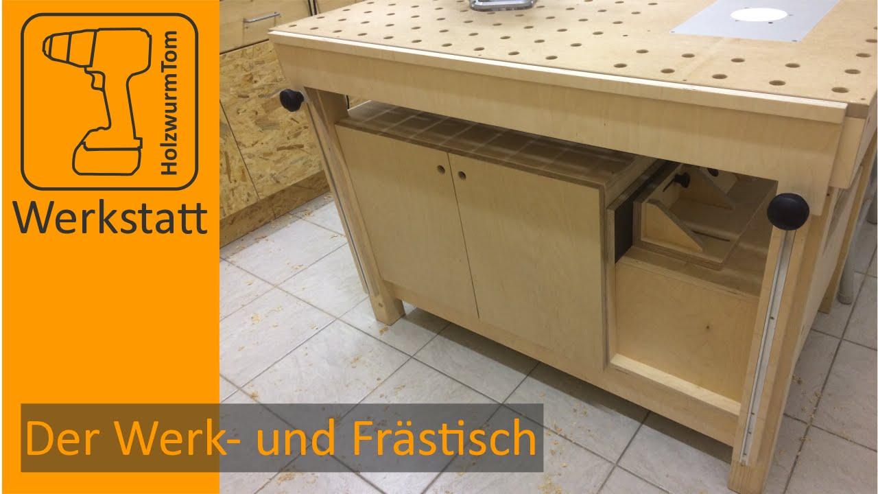 der werk und fr stisch das zentrum in der werkstatt multifuctional workbench router table. Black Bedroom Furniture Sets. Home Design Ideas