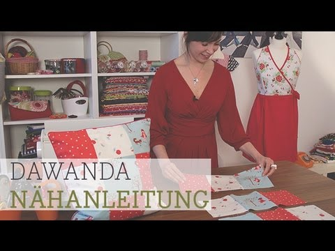 dawanda n hschule patchwork kissen youtube. Black Bedroom Furniture Sets. Home Design Ideas
