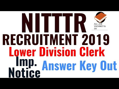 NITTTR LDC Provisional Answer Key Out | CHECK YOUR MARKS | NITTTR RECRUITMENT 2019 |
