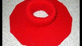 Манишка круглая крючком - 2 часть - Crochet dickey (shirtfront)
