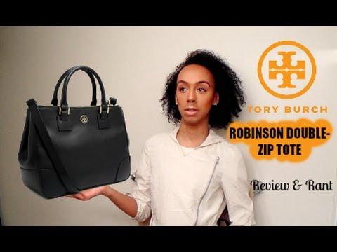 8cf615dc6 Tory Burch Double-Zip Robinson Tote - YouTube