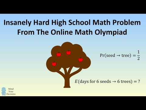 Tricky Apple Tree Probability Problem From The Online Math Olympiad