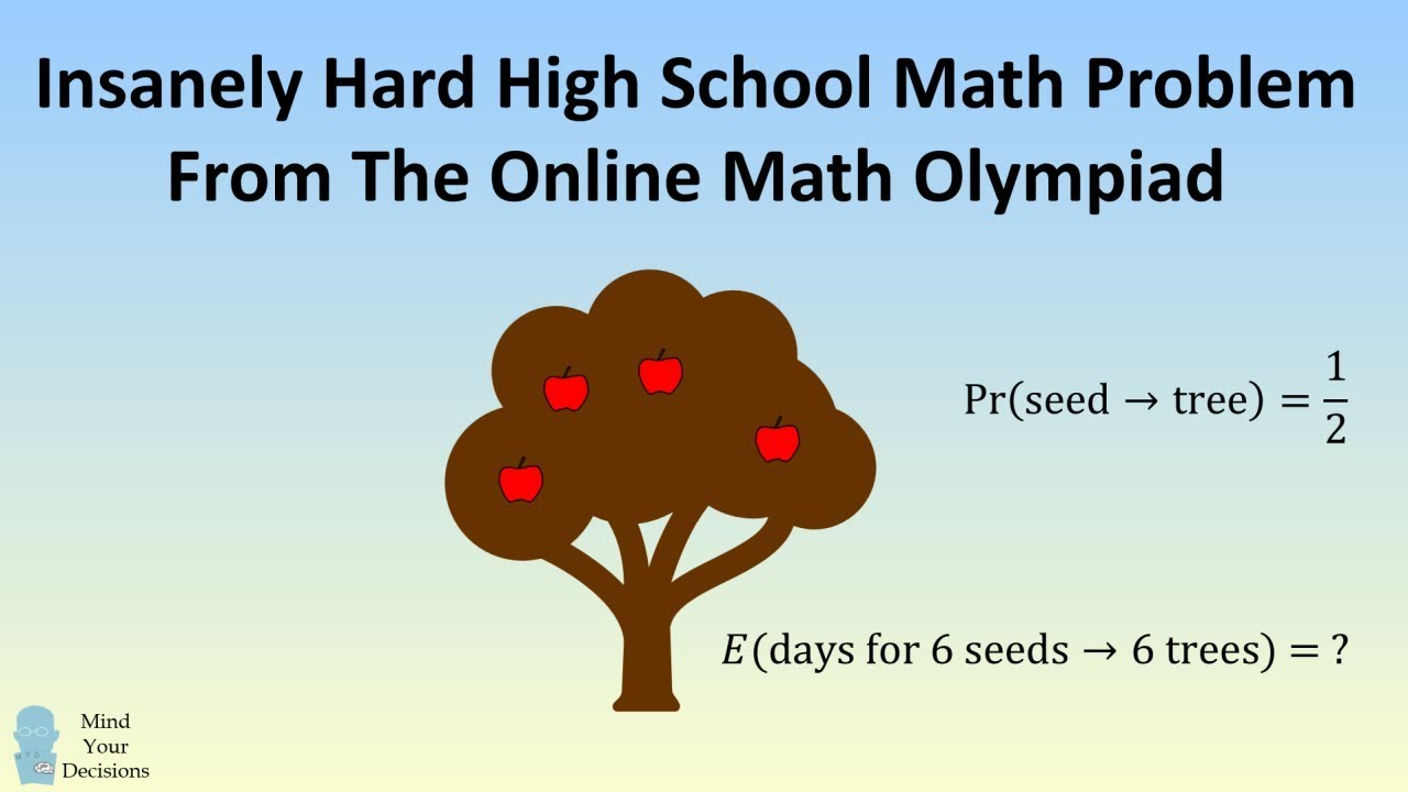 Insanely Hard High School Math Question - Online Math Olympiad Apple Tree  Probability