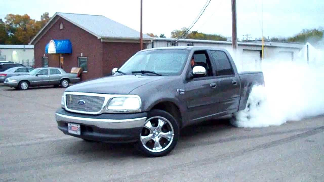 2002 Ford F150 Supercrew 5 4 Burnout Youtube