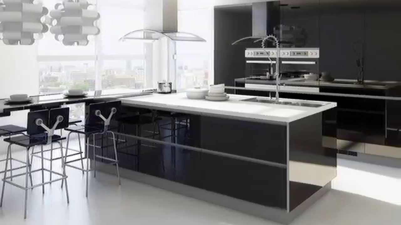 schwarz wei k che youtube. Black Bedroom Furniture Sets. Home Design Ideas