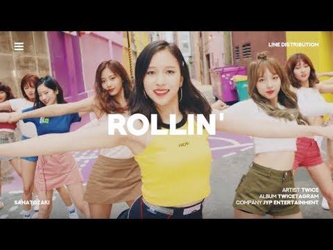 TWICE (트와이스) - Rollin' | Line Distribution