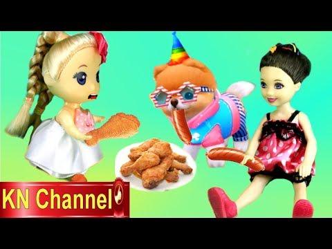 Trò chơi KN Channel BÚP BÊ HUẤN LUYỆN CHÓ CON ĐI THI ĂN GÀ KFC