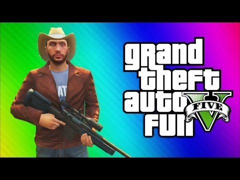 GTA 5 Online Funny Moments Gameplay - Naked People, Crazy Ramps, Prison Chase Fun (Multiplayer)