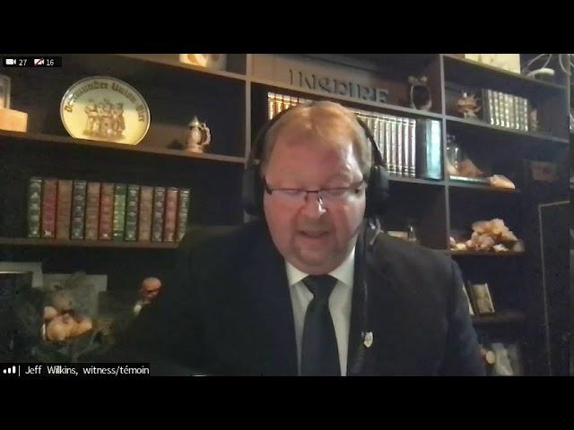 Français : Jeff Wilkins - le comité permanent du Sénat COVID 19