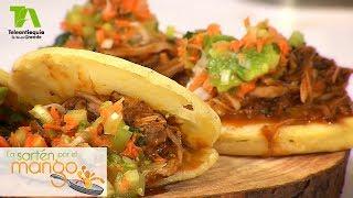 La Sartén por el Mango, Arepitas rellenas con pierna de cerdo en BBQ - Teleantioquia