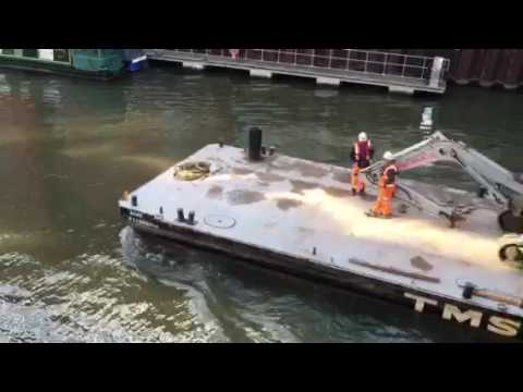 Bristol UK Floating Harbour traffic scene