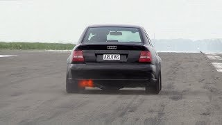1250HP Audi S4 B5 FROM HELL!! BRUTAL 0-318 KM/H ACCELERATIONS!