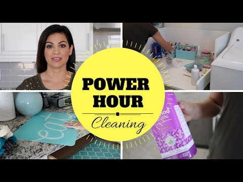 POWER HOUR CLEANING | CLEANING ROUTINE | STAY AT HOME MOM
