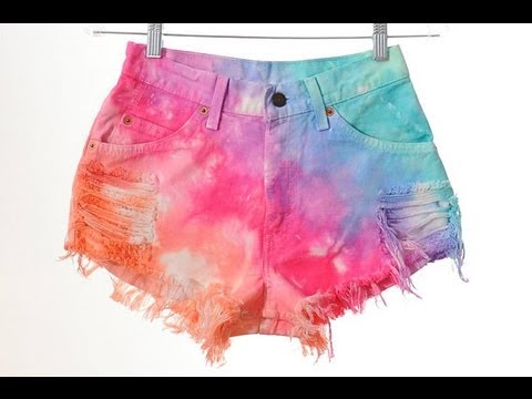 Diy tie dye shorts elisabethbeauty1 youtube for Nike tie dye shirt and shorts