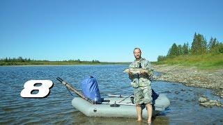 Одиночный сплав по реке Собь. Полярный Урал. (8 и 9 день пути. Хорошая рыбалка. Село Катравож)