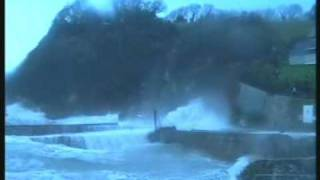 Charlestown (St.Austell) Cornwall Rough Sea Big Waves High Tide Part 2