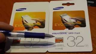 Fake vs. original Samsung EVO 32Gb Micro SD Card