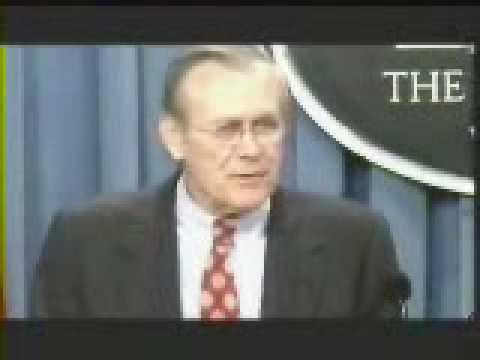 """""""Stuff Happens!"""" - Rumsfeld on looting after fall of Baghdad"""