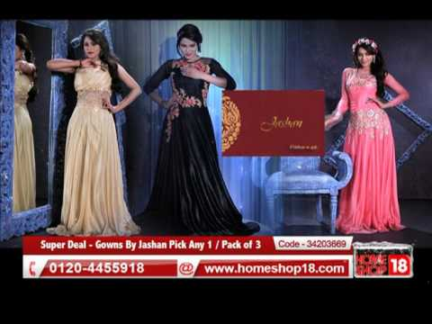 Homeshop18com Super Deal Gowns By Jashan Pick Any 1 Pack Of