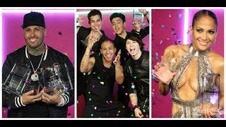 JLo, Nicky Jam y CNCO Arrasan en los Premios Latin Billboard 2017