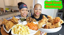 ROSCOES FRIED CHICKEN SOUL FOOD ( WHO CAN EAT MORE CHALLENGE) MUKBANG!