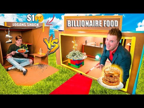 $1 Vs $10,000 BOX FORT RESTAURANT CHALLENGE