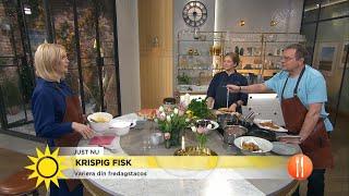 Så lagar du krispig fisk till fredagsmyset - Nyhetsmorgon (TV4)