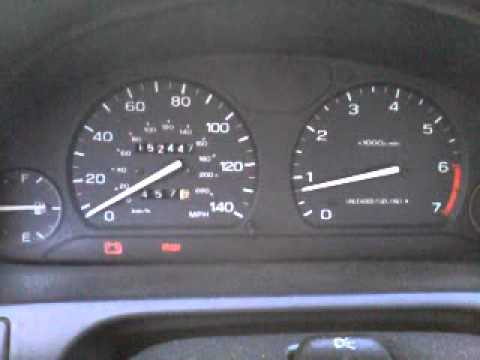 Subaru Warning Lights >> 1995 Subaru Legacy - alternator failure - brake and battery (alternator) lights both on - YouTube