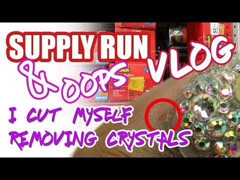 Supply Run and I Cut Myself Removing Crystals | Vlog | LongHairPrettyNails