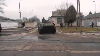 Вихід колони десантників з вч у Львові