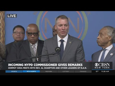 Incoming NYPD Commissioner Dermot Shea Meets With Rev. Al Sharpton, National Action Network