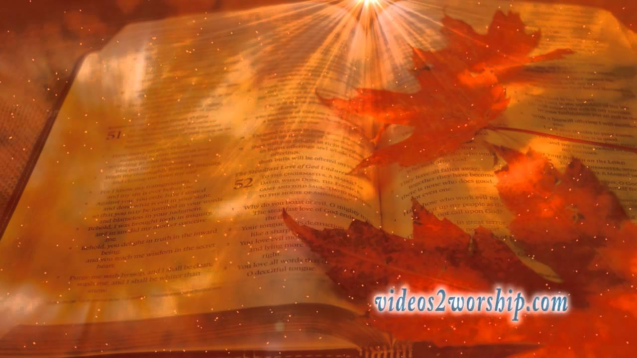 autumn bible and dust