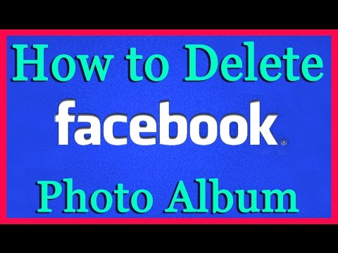 How do i delete all photos from my facebook account