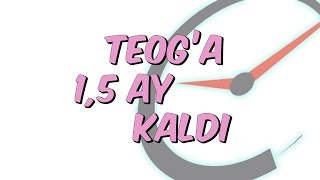 TEOG'a 1,5 AY KALDI