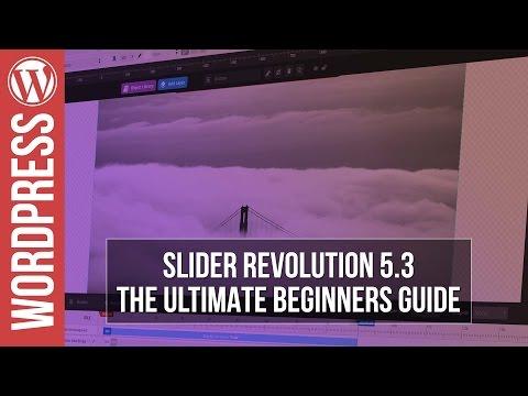Basics of Slider Revolution 5 Plugin in WordPress