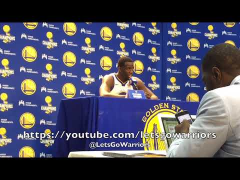 DRAYMOND GREEN, #GSWMediaDay: Myers, Trump, Durant Twitter snafu, laughed at his face, recruiting