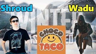 PUBG WINTER MAP THE VIKENDI - Shroud, ChocoTaco & Wadu - New Gun G36C - Snow Ghillie Suit