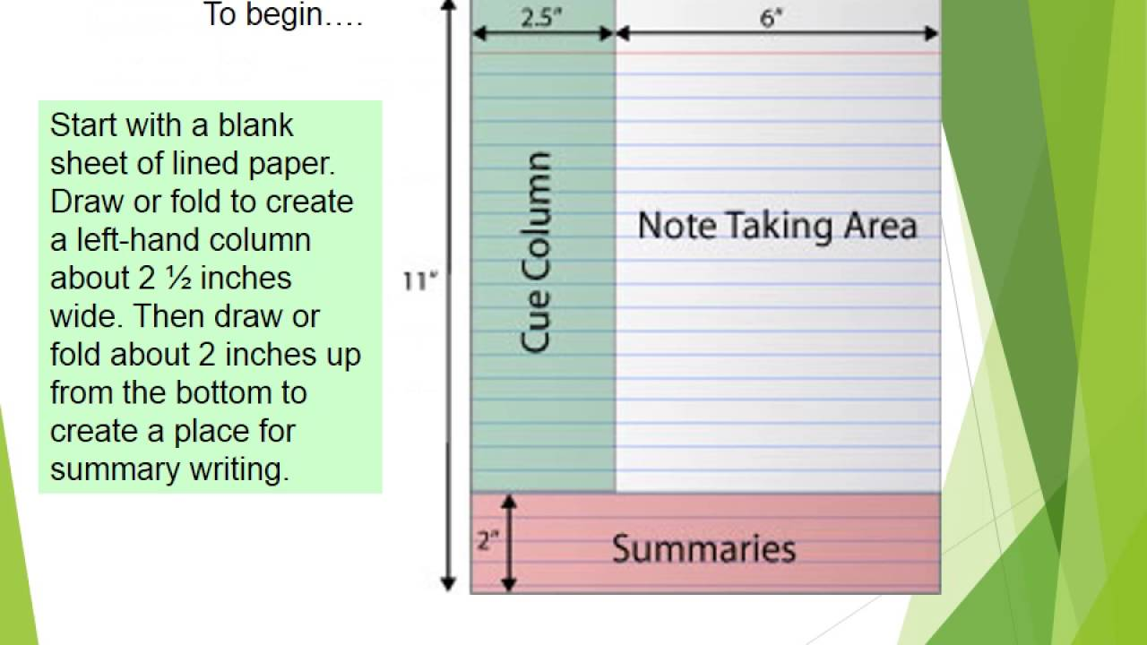 cornell notes powerpoint template