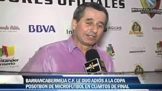 Barrancabermeja FC le dijo adios a la copa Postobón de Microfútbol en cuartos del final