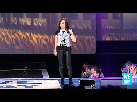 Molly Burke at We Day 2013