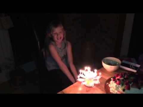 Musical Birthday Rotating Candle With Silver Fountain