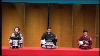 2015年4月横浜にぎわい座にて、家元の会 語り 富士松延千代 三味線...