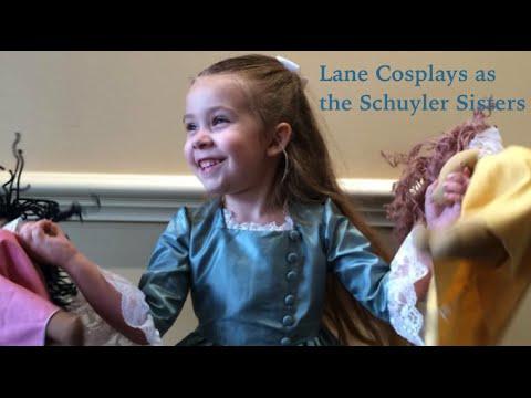 Lane Cosplays as the Schuyler Sisters (Hamilton Musical)
