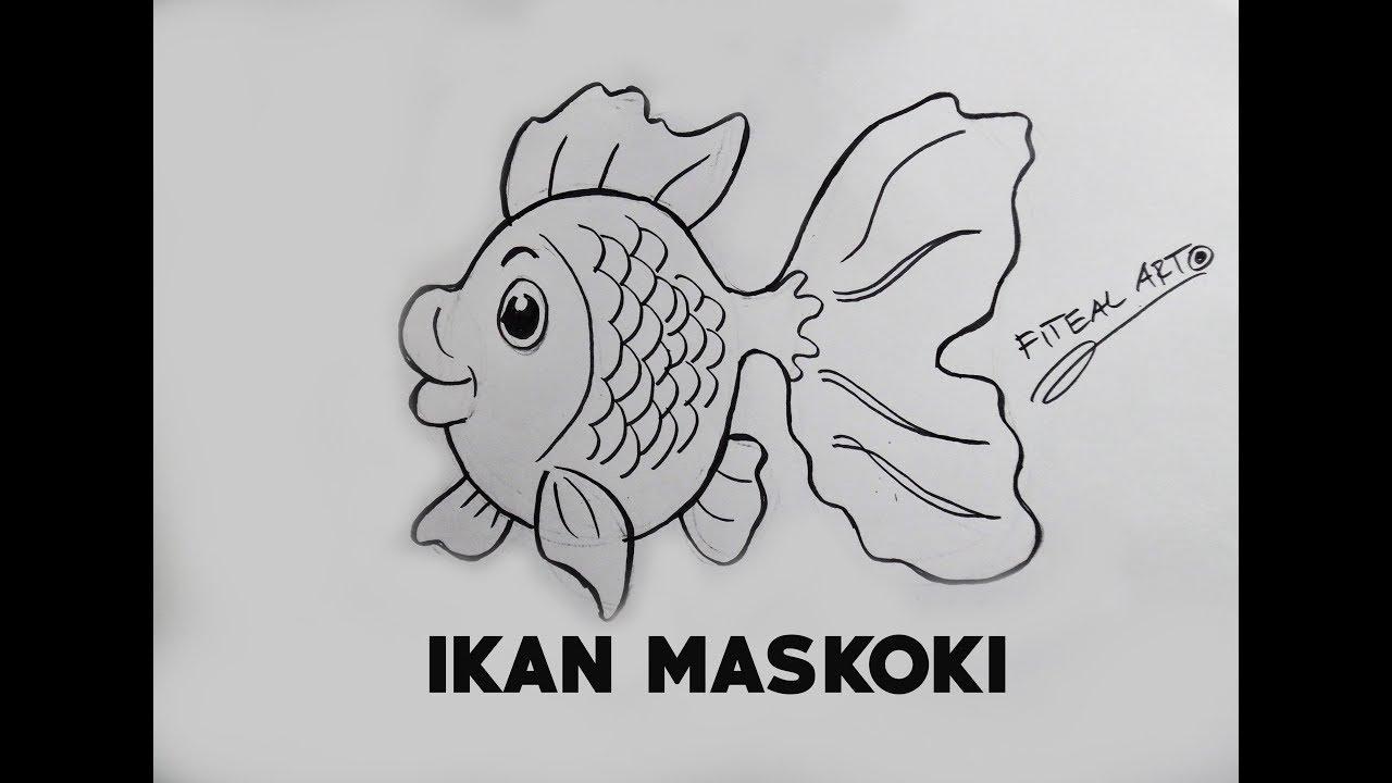 mewarnai gambar ikan koki 9 sketsa gambar ikan hias