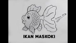 Cara menggambar IKAN MASKOKI (How to draw MAS KOKI fish step by step)